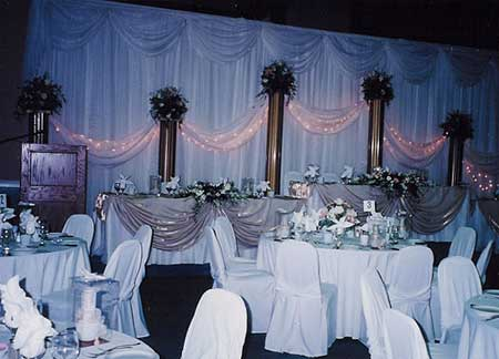 Elegant Head Tables.  Let All Events Planning Take Care Of All Your Event Needs!